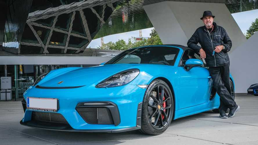 80-year-old buys his 80th Porsche, a new Boxster Spyder