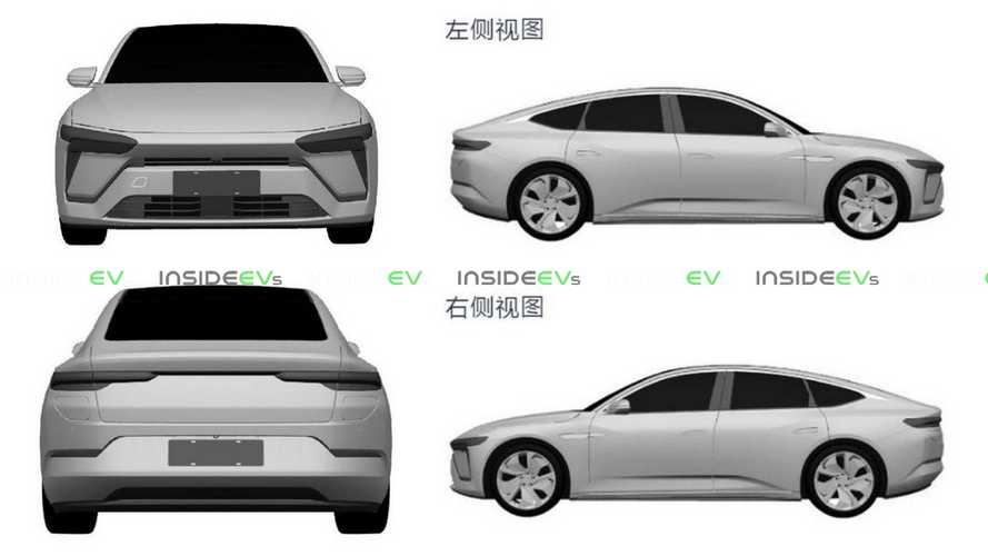 Patent images reveal Nio's saloon challenger to the Tesla Model S: ET7