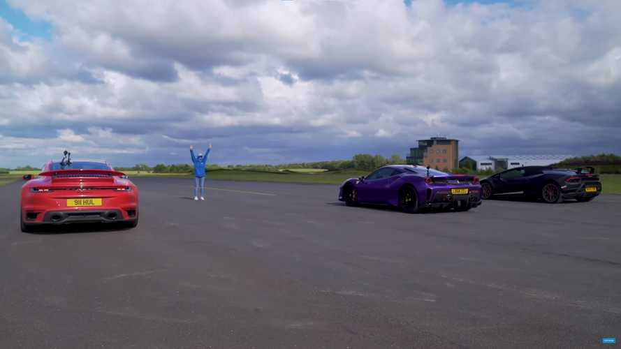 Porsche faces Lamborghini and Ferrari in quarter mile battle