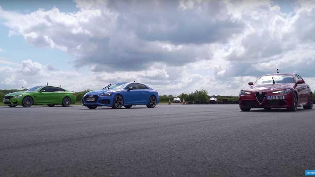 Alfa Romeo Giulia Quadrifoglio, BMW M4, Audi RS5 Yarışı