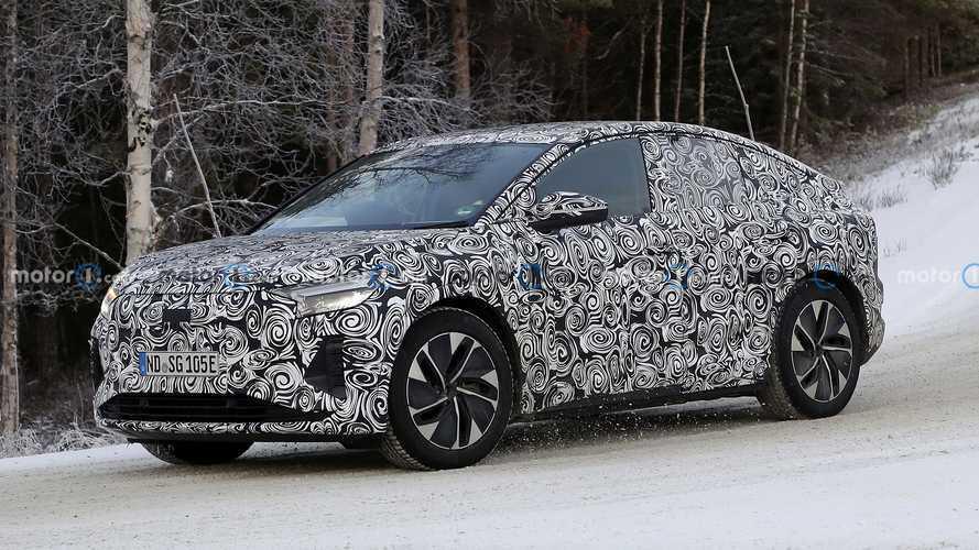 Audi Q4 e-tron Sportback karlı yollarda test yapıyor