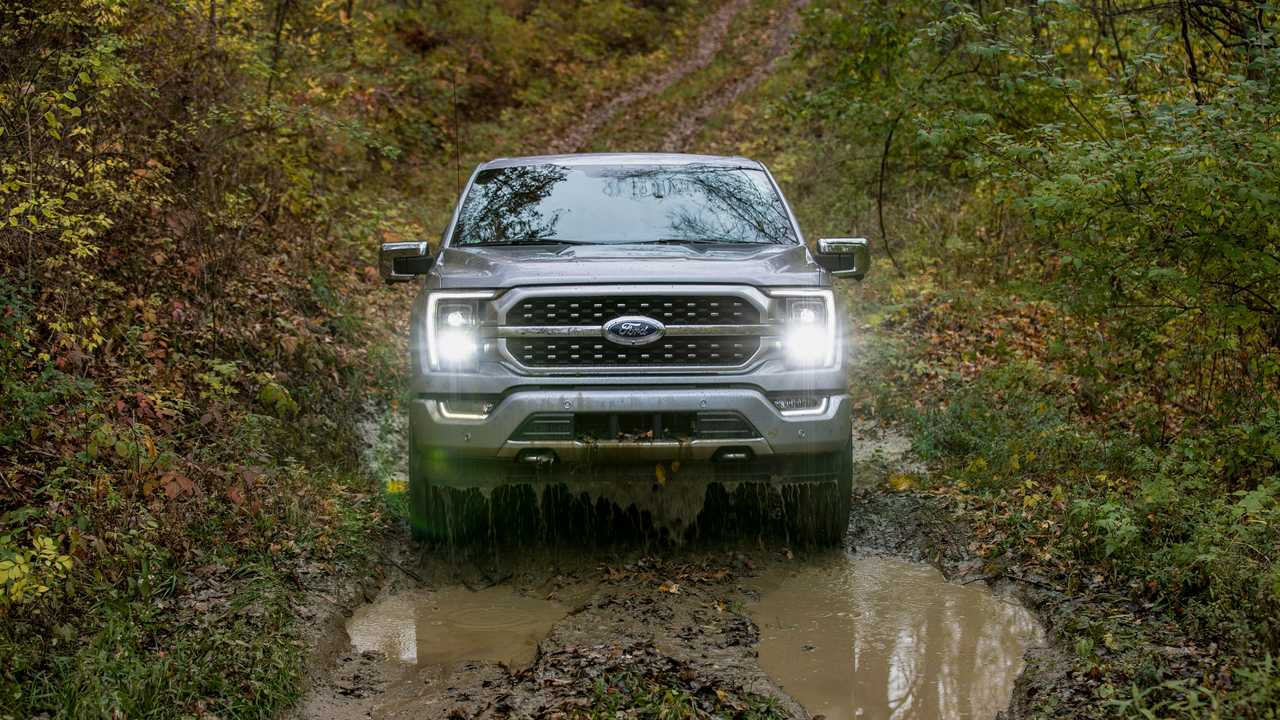 2021 Ford F-150 off-road nose on