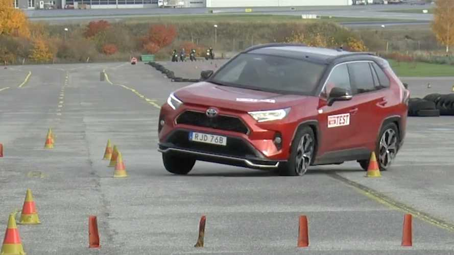 Watch Toyota RAV4 Plug-In Hybrid fail moose test in spectacular fashion