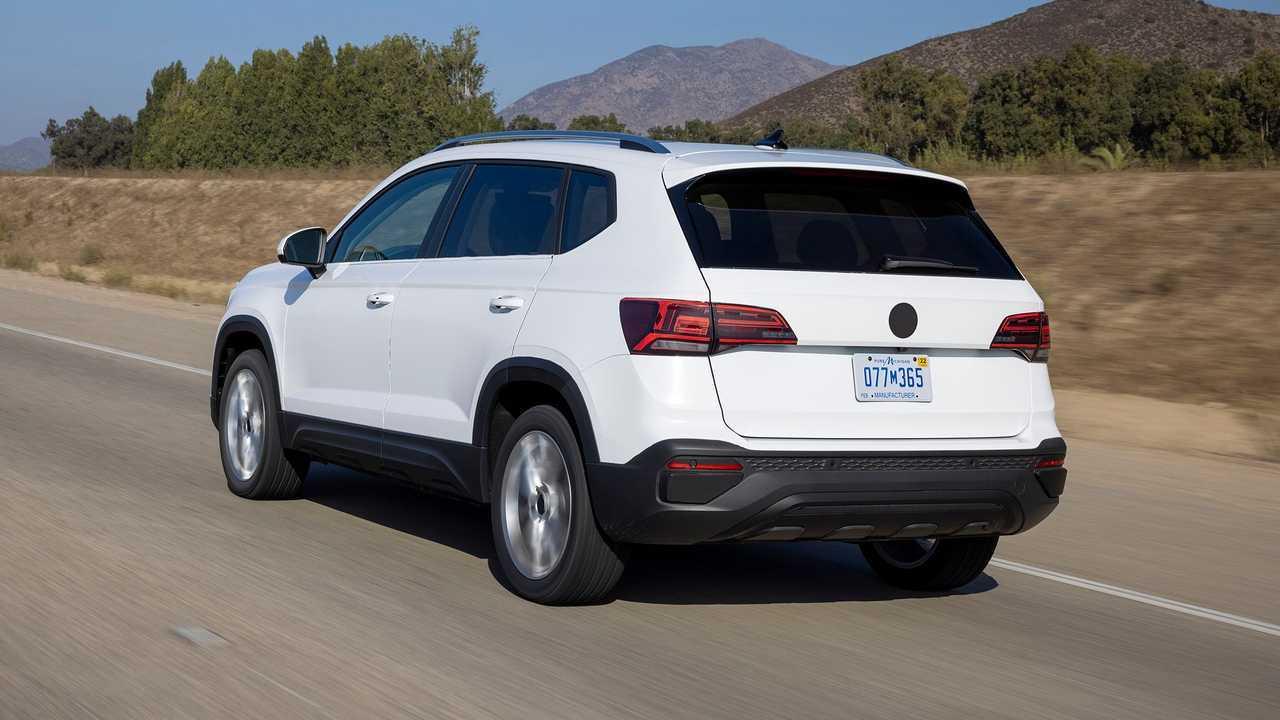 2022 Volkswagen Taos Prototype Rear Quarter