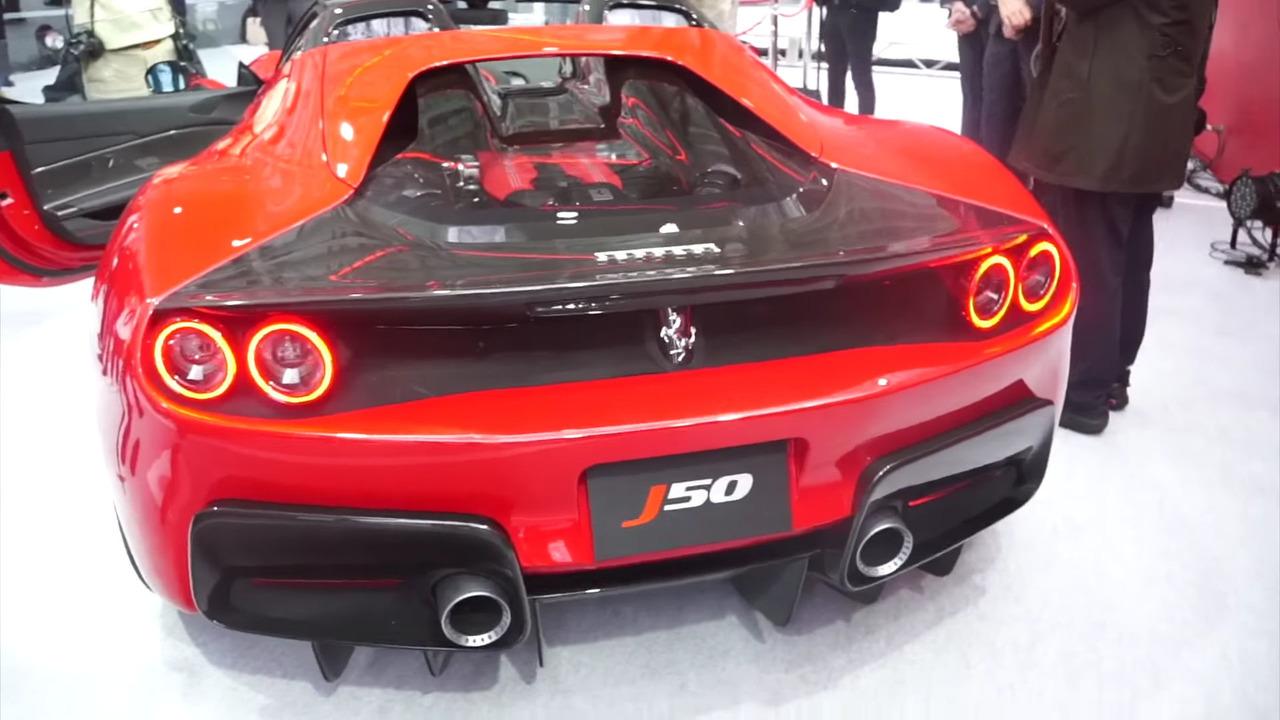 Watch Ferrari S Swanky J50 Unveiling In Japan