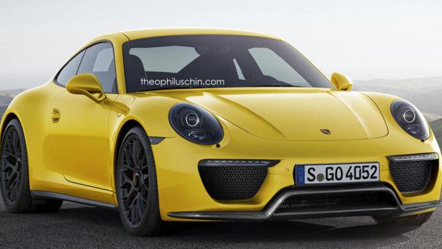 Porsche 911 facelift rendered with 918 Spyder face