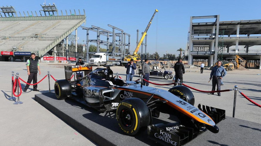 Force India on road to Barcelona test