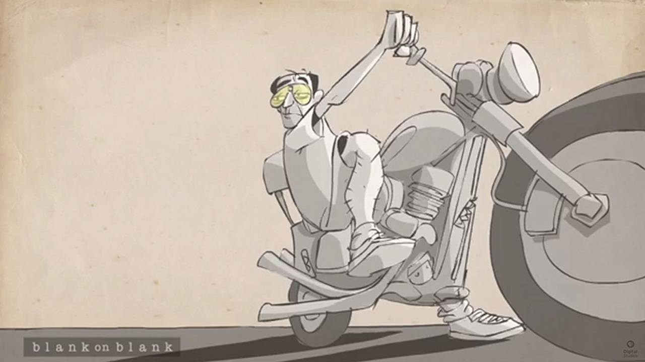 Watch Animation of Hunter S. Thompson Talking about the Hell's Angels