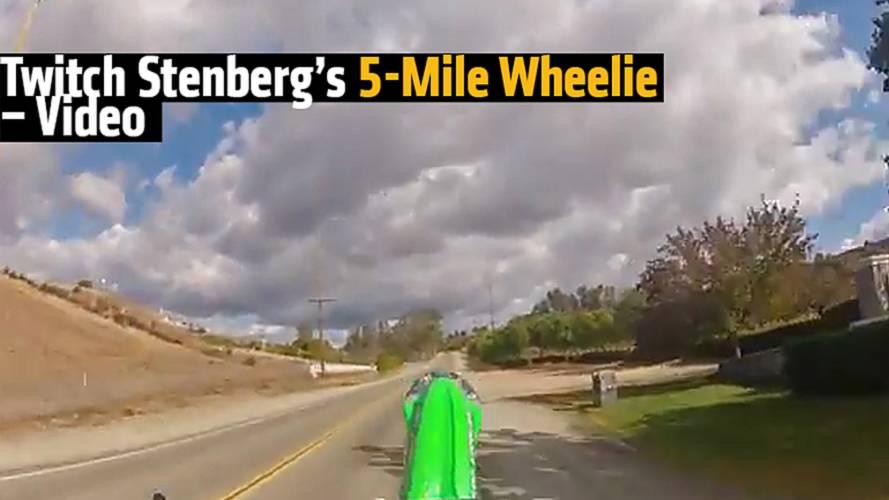 Twitch Stenberg's 5-Mile Wheelie - Video