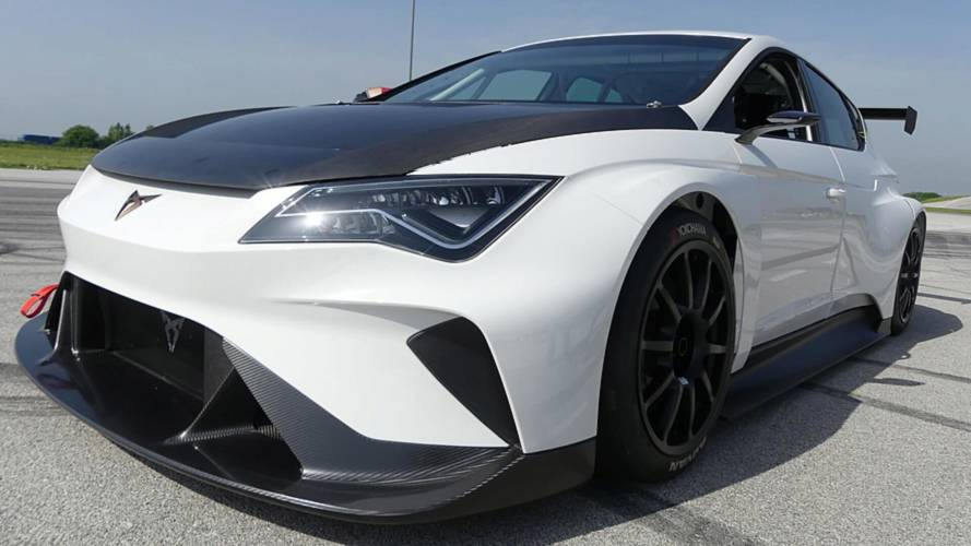 See the 670-bhp, rear-wheel-drive Cupra E-Racer hit the track