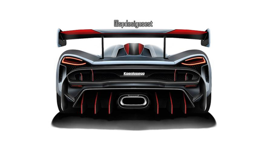 2019 Koenigsegg hypercar rendered loosely based on official teaser