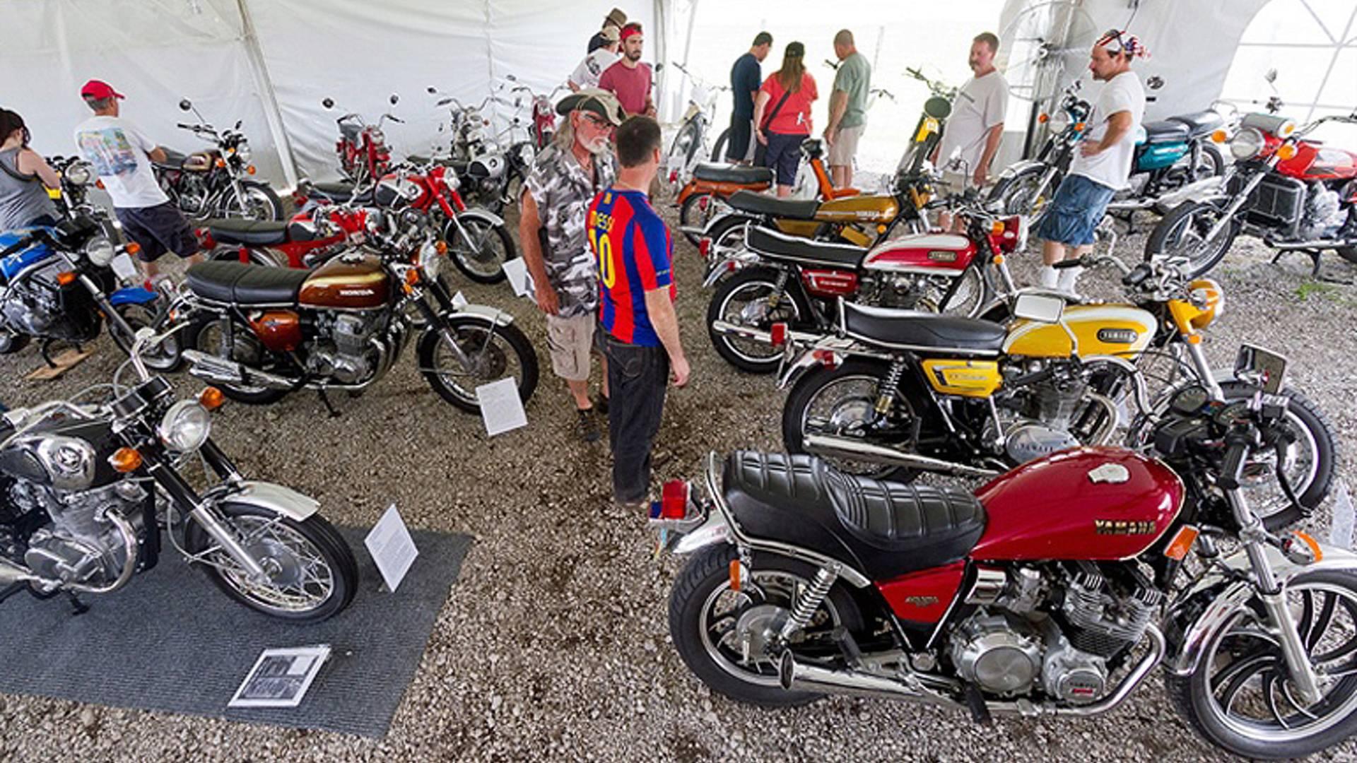 Vintage japanese motorcycle swap meet