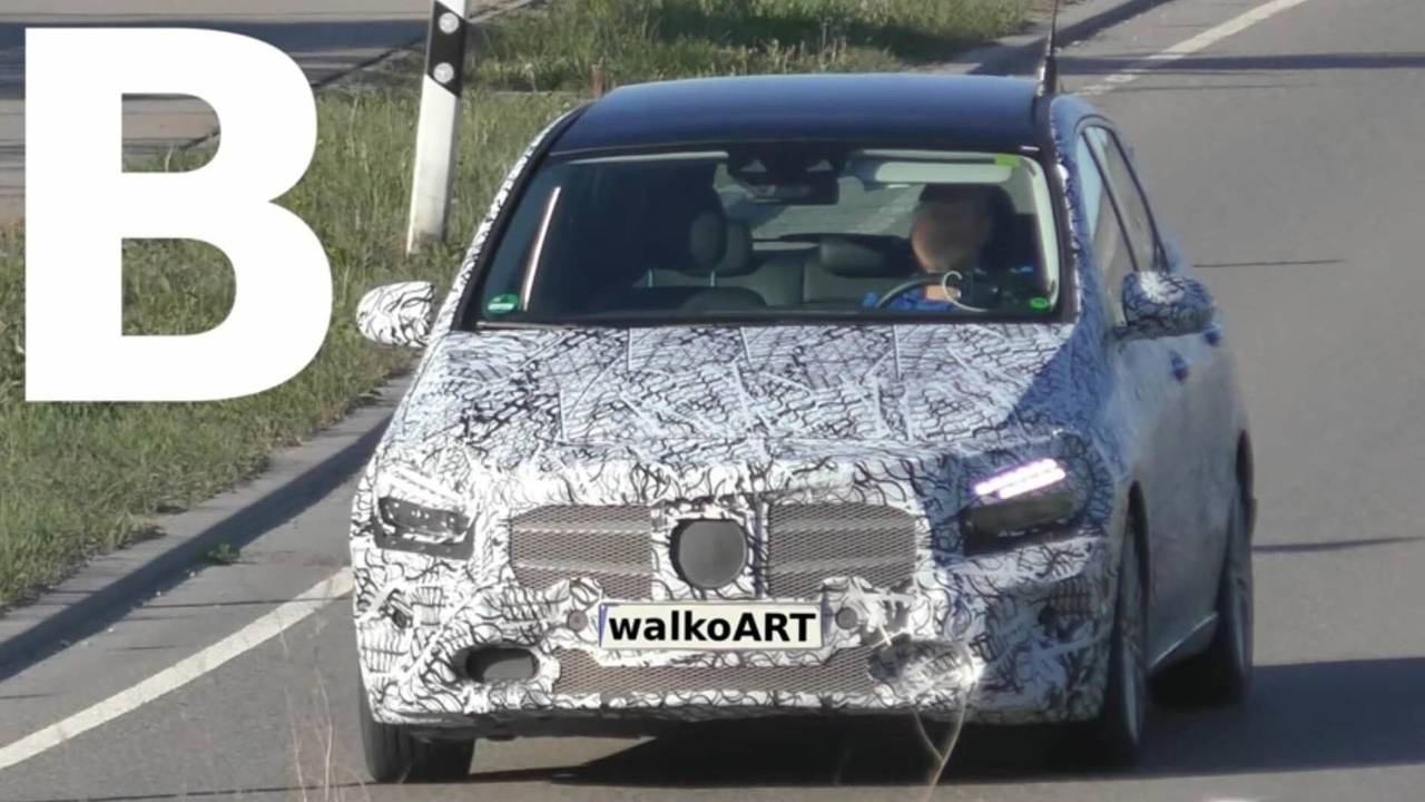 2019 Mercedes B-Class screenshot from spy video