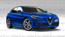 Alfa Romeo Giulietta en illustration