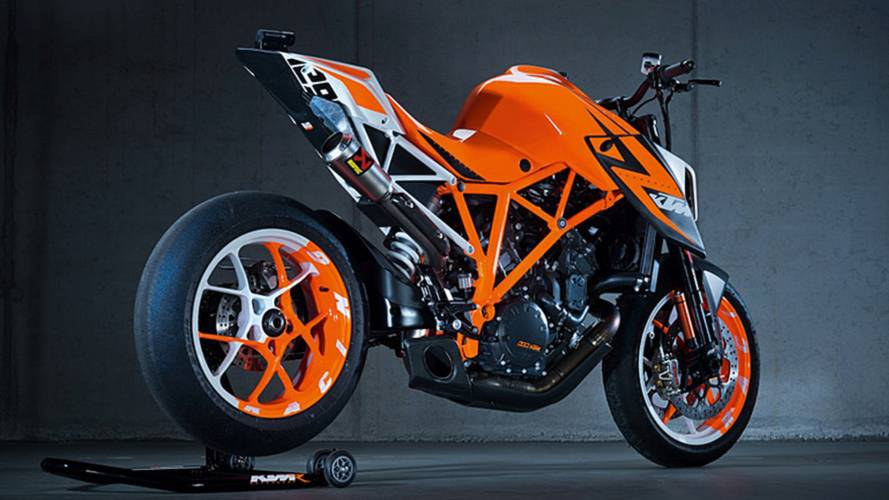 Watch As A KTM 1290 Super Duke R Hits The Track