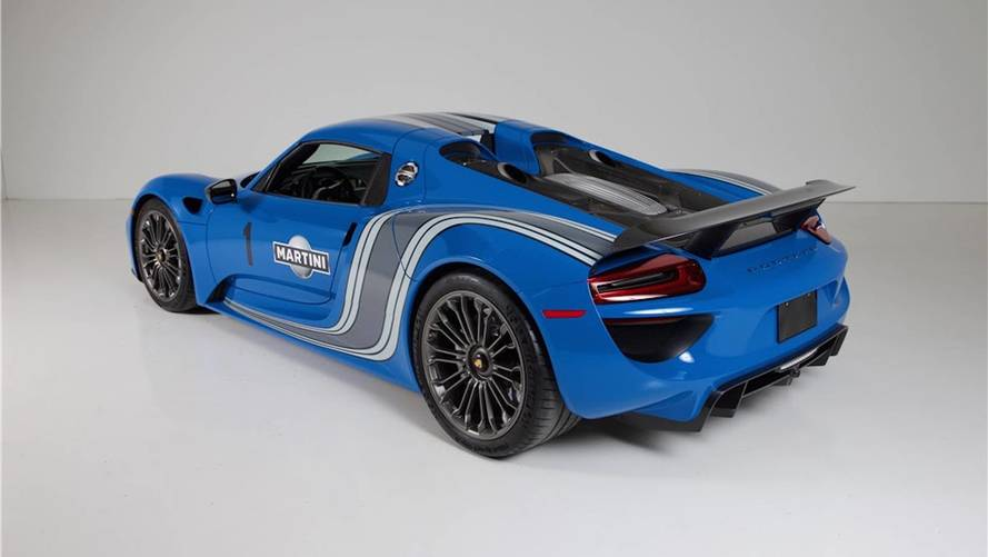 Porsche 918 Voodoo Blue Auction