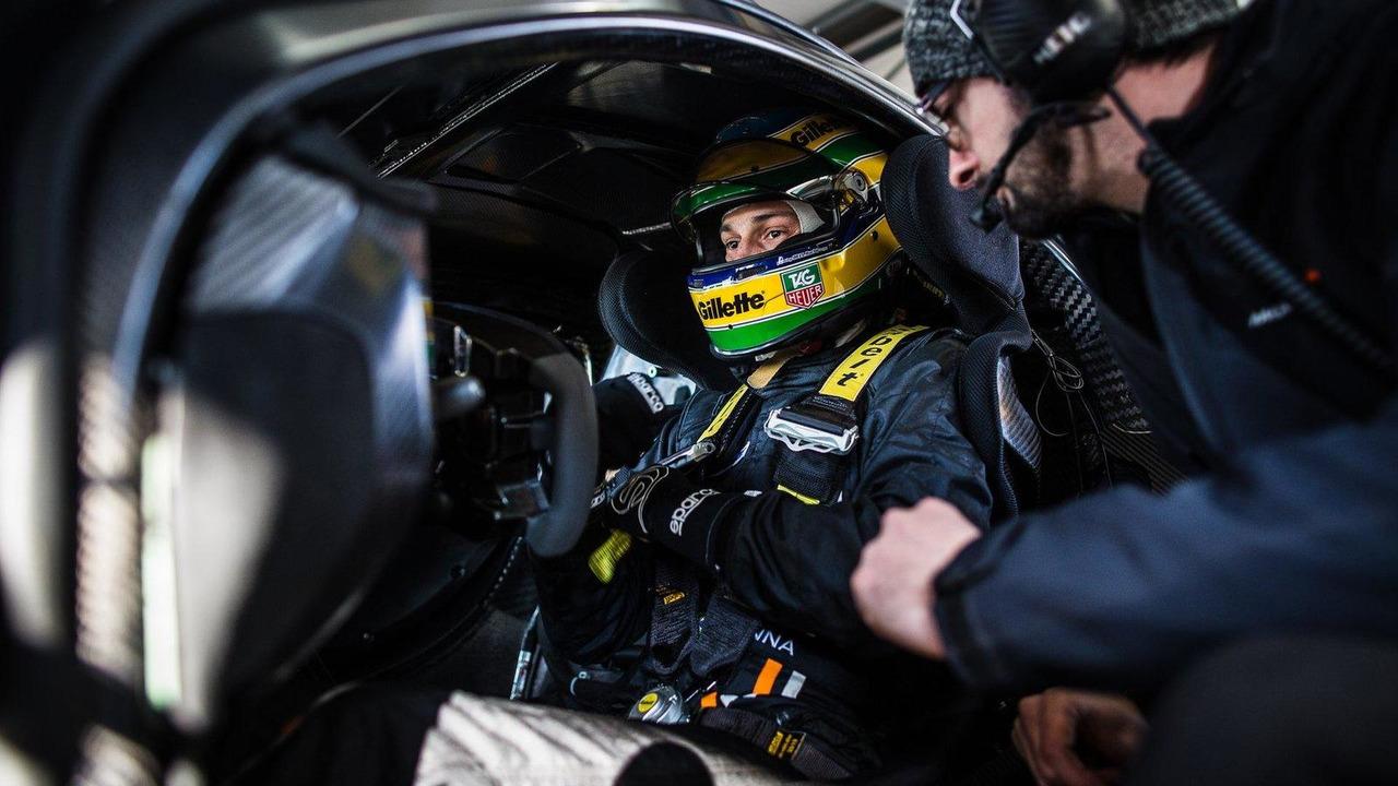Bruno Senna testing the McLaren P1 GTR