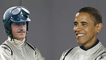 President Brack Obama & Grahm Hill as the Stig