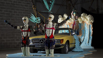 Mercedes-Benz, The installation 'The lifestyle convertible and the legendary playboy' 19.01.2011