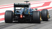 Heikki Kovalainen (FIN), Lotus F1 Team, T127 wing and diffuser, Bahrain Grand Prix, 13.03.2010 Sakhir, Bahrain