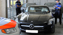 Mercedes SLS AMG impounded by Swiss police, 600, 13.08.2010