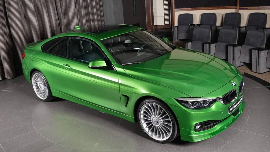 Yeşil gövdeli BMW Alpina B4 S zehir gibi