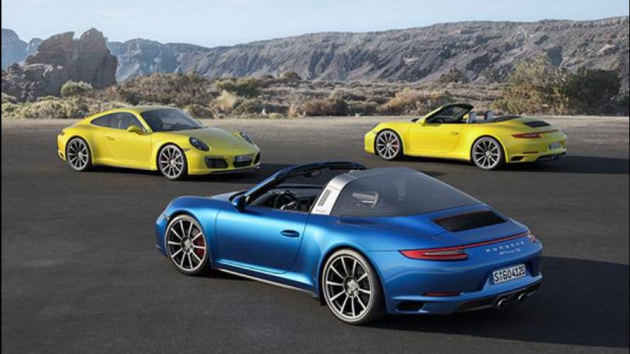 Porsche 911, turbo per Carrera 4 e Targa 4