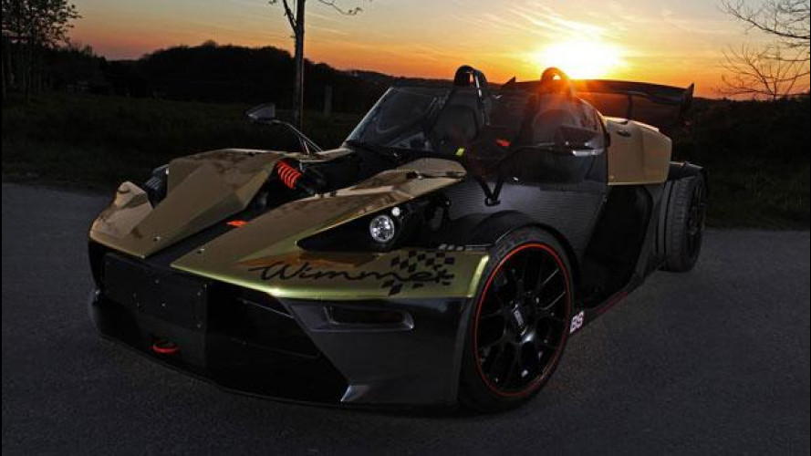 KTM X-Bow Gold Edition, creazione dorata