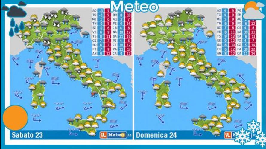 Meteo del fine settimana 23 e 24 novembre 2013