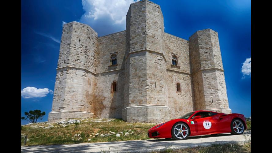 Ferrari Cavalcade 2017, spettacolo in Puglia