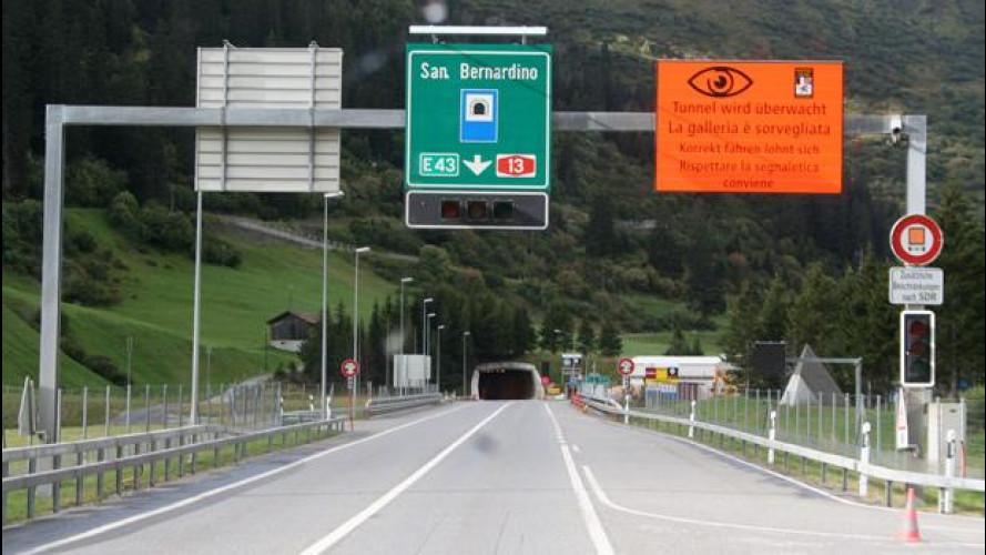 Corsia di sorpasso, limite minimo di 100 km/h in Svizzera