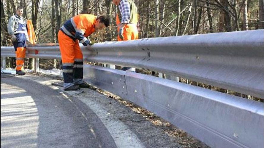 "Guardrail, parte l'installazione di quelli ""sicuri"""