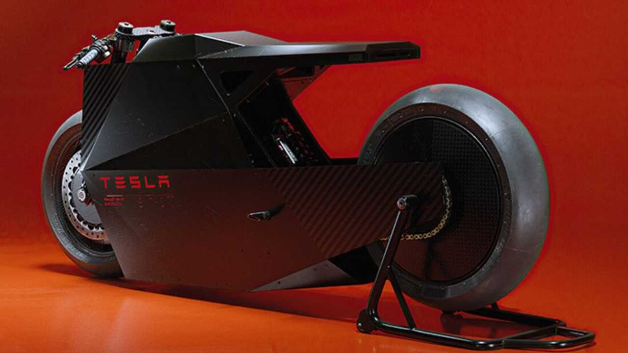 Tesla Cyber Bike Concept Ash Thorpe and Carlos Colorsponge