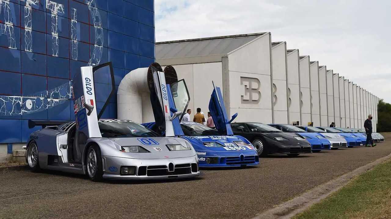 Bugatti EB110, il raduno dei 30 anni a Campogalliano