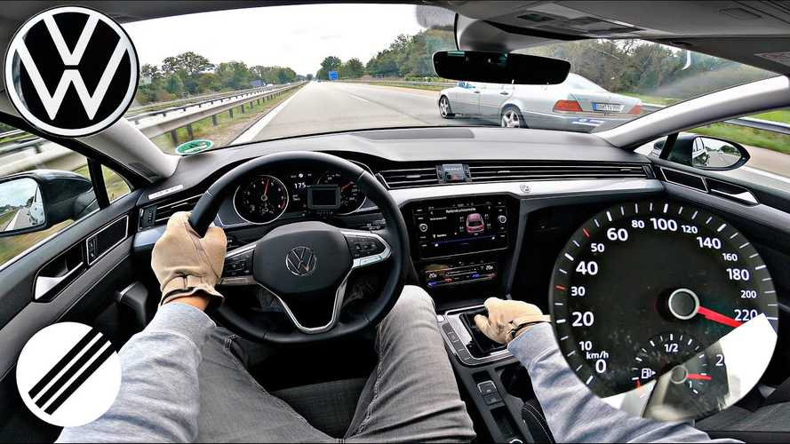 2021 VW Passat Estate with 148 bhp hits 145 mph on the Autobahn