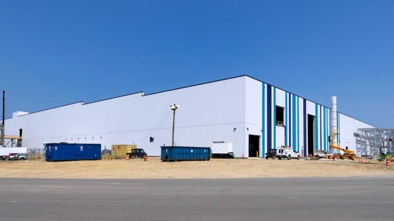 Construction at Ultium Cells LLC battery cell manufacturing facility in Lordstown, Ohio
