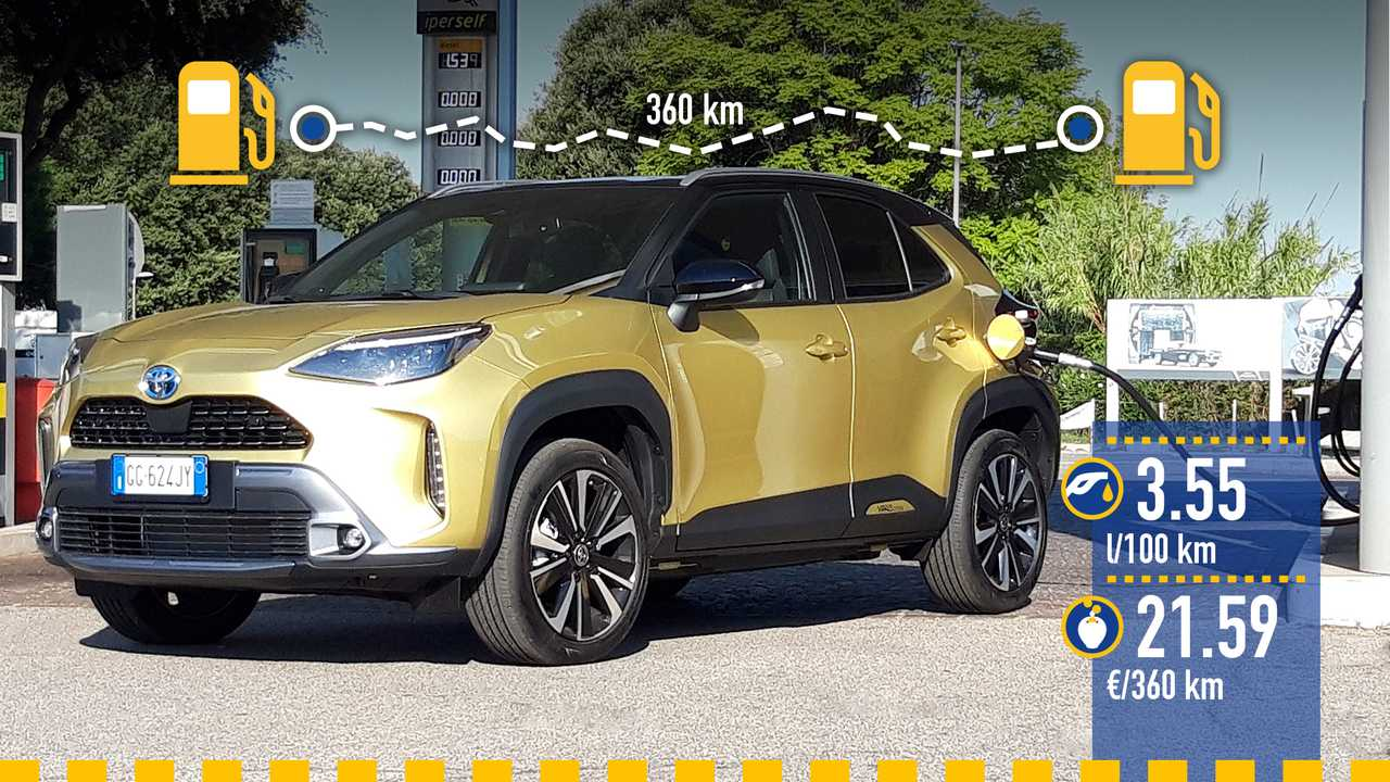 Toyota Yaris Cross Hybrid, la prova consumi