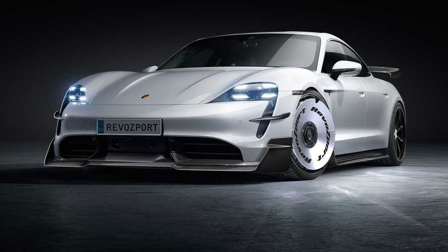 These Two Porsche Taycan Body Kits From RevoZport Are Killer