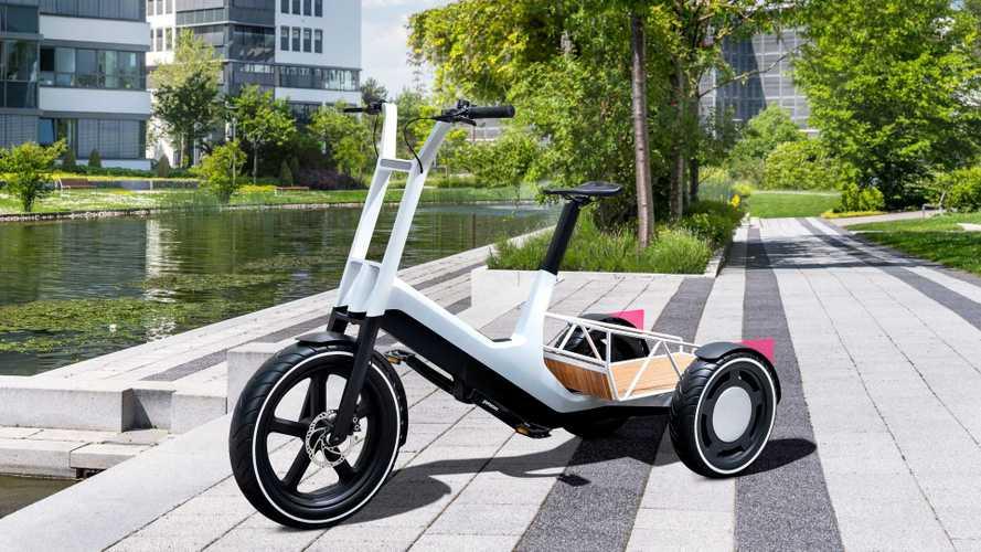 BMW apresenta triciclo elétrico 'picape' com bateria removível