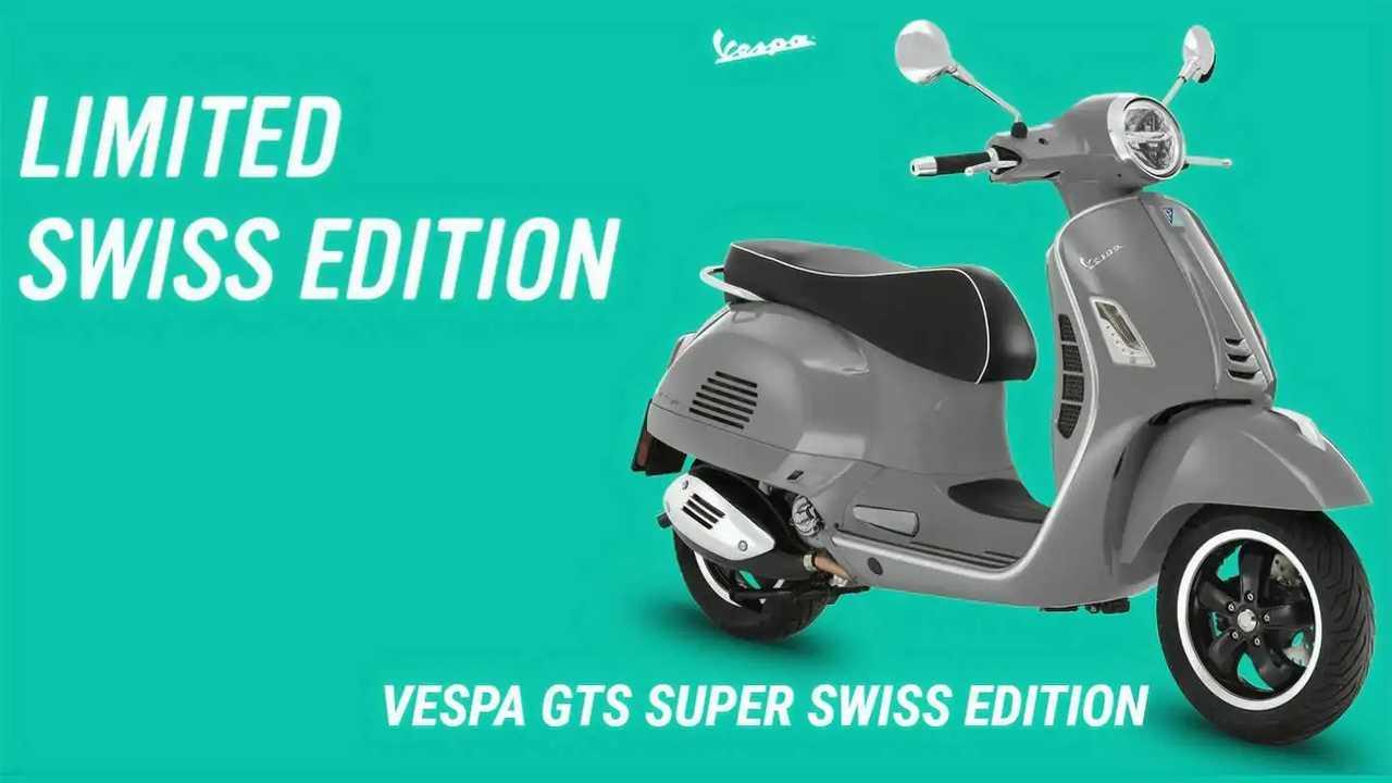 Vespa GTS Super Swiss Edition bakal jadi barang langka.