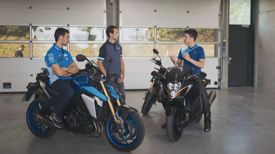 Watch Alex Rins And Joan Mir Try Out The New Suzuki Hayabusa