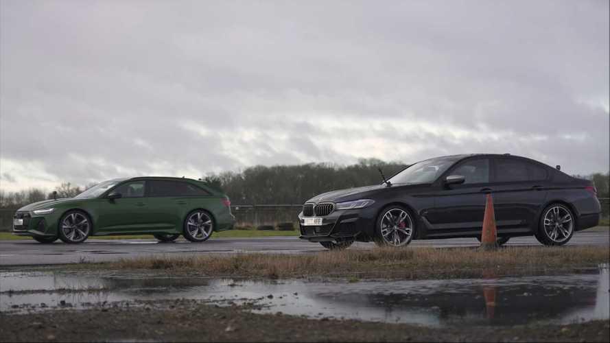BMW M550i Drag Races Audi RS6 Avant For German Engineering Glory