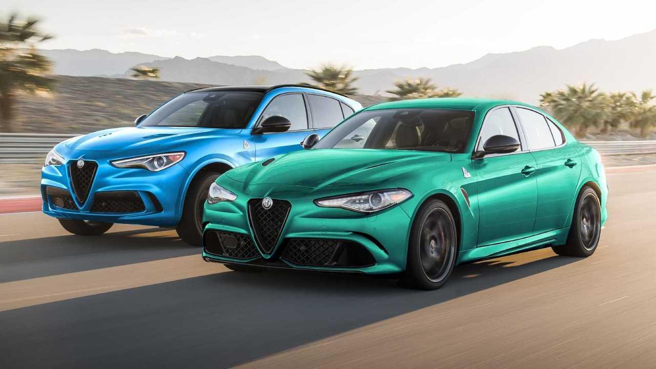 2022 Alfa Romeo Stelvio and Giulia (lead image)