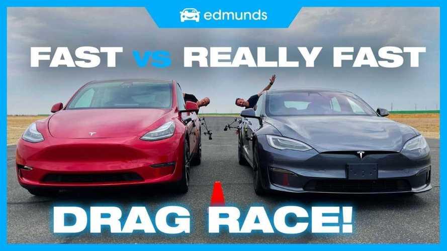 What happens when Tesla Model Y Performance races Model S Plaid?