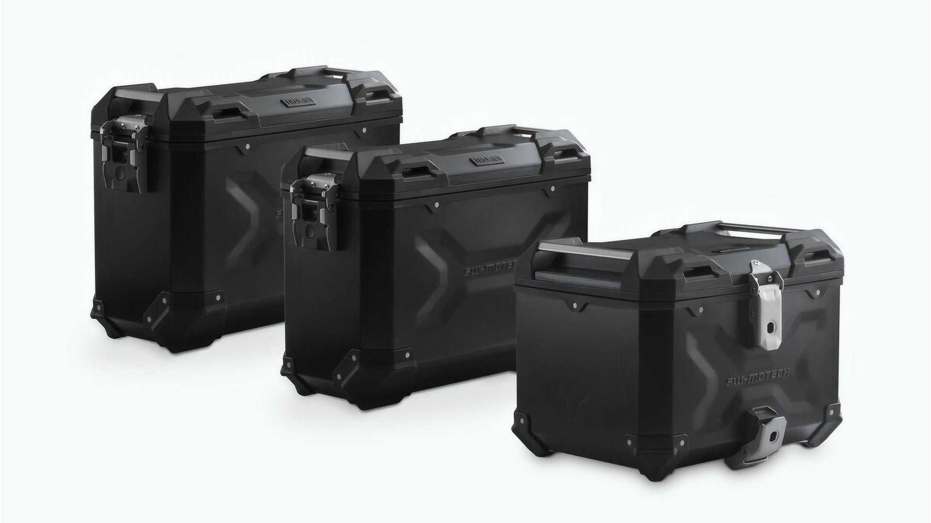 Benelli TRK 502 X with SW-Motech Adventure Set Luggage in Black - Off Bike