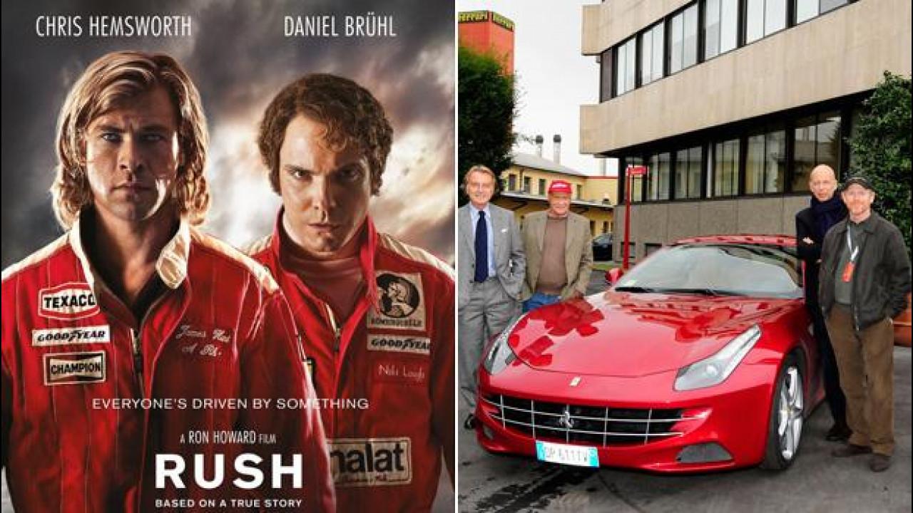 [Copertina] - Rush, le foto di Niki Lauda e Ron Howard a Maranello [VIDEO]