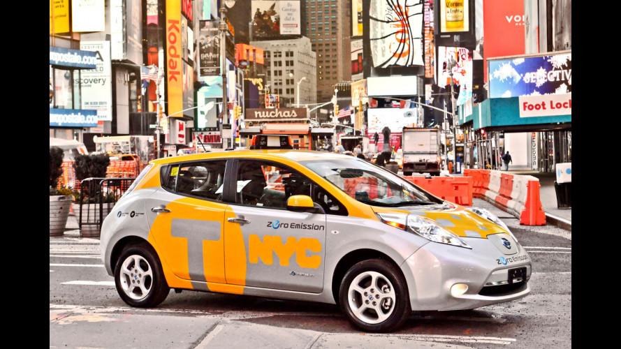 """Per il sindaco di New York Nissan Leaf è il """"taxi di dopodomani"""""""