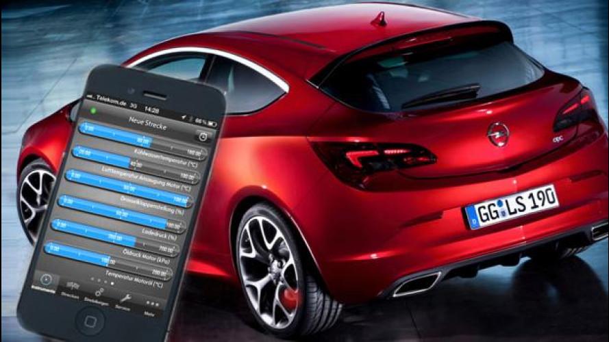 Sull'Opel Astra OPC c'è un'App per la telemetria