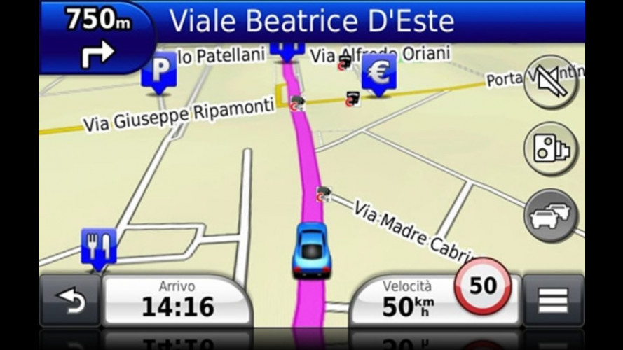 Area C, Garmin offre la mappa gratuita
