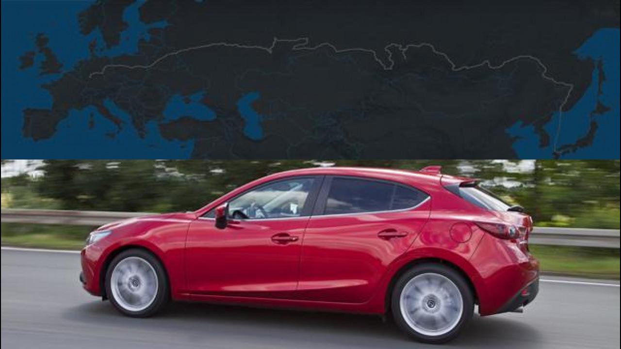 [Copertina] - Nuova Mazda3 è pronta per il test di resistenza da 15.000 km